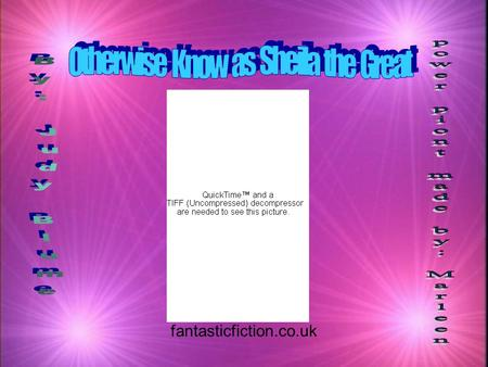 Fantasticfiction.co.uk. kSheila - liar, not talented kMouse - Very talented kSheila's parents - very nice, caring kLibby (Sheila's sister) - thinks she's.