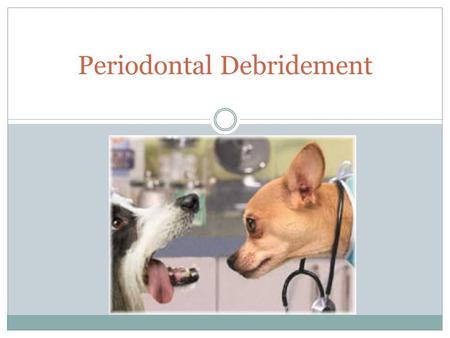 Periodontal Debridement. Routine Prevention or Necessary Treatment? Dental prophylaxis OR periodontal therapy  Removal of deposits from supragingival.
