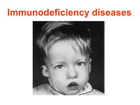 Immunodeficiency diseases. Definition: Defects in one or more components of the immune system lead to serious and often fatal disorders. Which are collectively.
