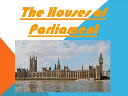 The Houses of Parliament. OUR VISIT TO THE HOUSES OF PARLIAMENT 18 TH JANUARY 2016.