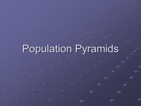 Population Pyramids. POPULATION STRUCTURE The population pyramid displays the age and sex structure of a country or given area Population in Five Year.