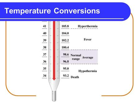 Temperature Conversions. Temperature Particles are always moving. When you heat water, the water molecules move faster. When molecules move faster, the.