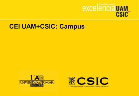 CEI UAM+CSIC: Campus. Plaza Mayor Goals: To integrate all comunity services in a common space. To be the center of the social and cultural campus activity.