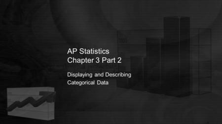 AP Statistics Chapter 3 Part 2 Displaying and Describing Categorical Data.