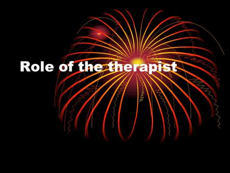 Role of the therapist. Role of the sports massage therapist The sports massage therapist has a varied job: preparing athletes for competition, helping.