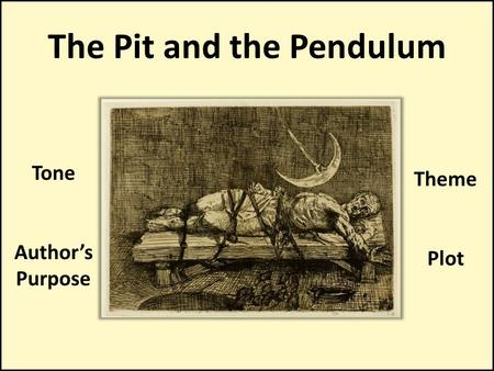 The Pit and the Pendulum Tone Author's Purpose Theme Plot.