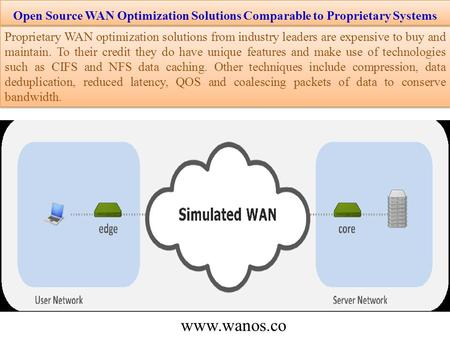 Open Source WAN Optimization Solutions Comparable to Proprietary Systems Proprietary WAN optimization solutions from industry leaders are expensive to.