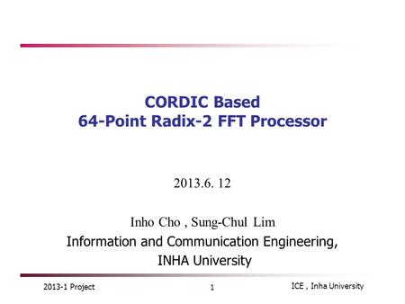 CORDIC Based 64-Point Radix-2 FFT Processor