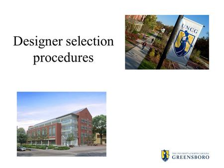 Designer selection procedures. Legal framework Article 3D. Procurement of Architectural, Engineering, Surveying Services, and Construction Manager at.