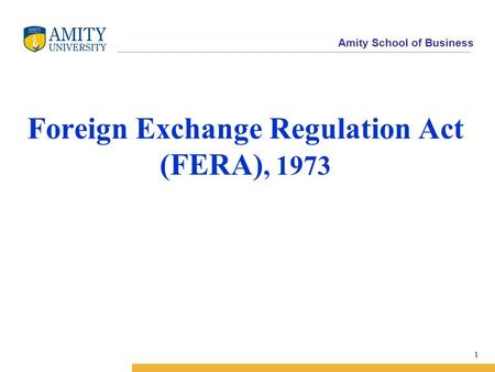 Foreign Exchange Regulation Act (FERA), 1973