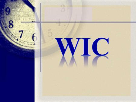 CONTENT Part I WIC: About us. WIC fundraising appeal Vision and Mission Part II Our objectives Activities WIC cares for WOMEN.