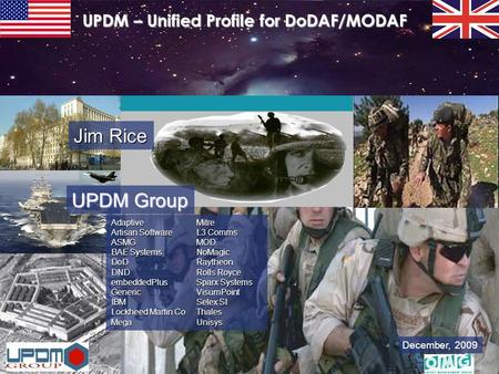 UPDM – Unified Profile for DoDAF/MODAF