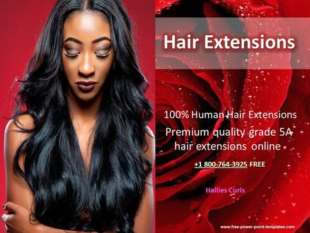 Click to edit Master title style Click to edit Master subtitle style 100% Human Hair Extensions Premium quality grade 5A hair extensions online +1 800-764-3925.