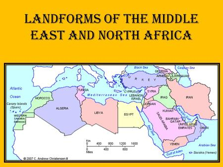 Landforms of The Middle East and North Africa