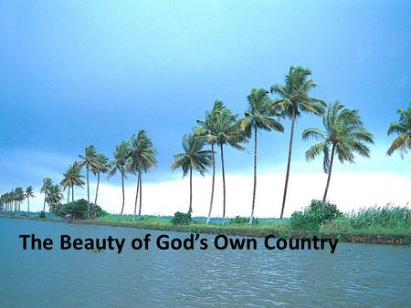 "The Beauty of God's Own Country. A gorgeous country abounding with natural beauty, Kerala has been rightfully termed ""God's Own Country"" for its mesmerising."