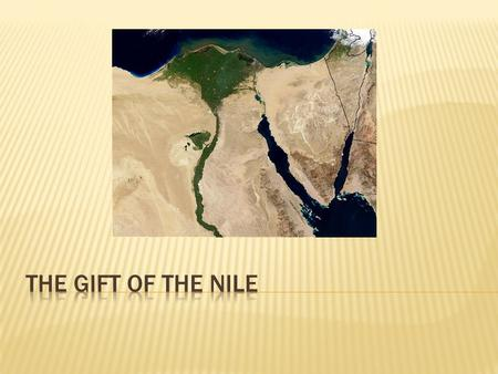 The Gift of The Nile.