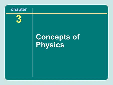 Chapter 3 Concepts of Physics. Force Is a form of energy Causes movement Has direction Has magnitude Gravity is a constant force.