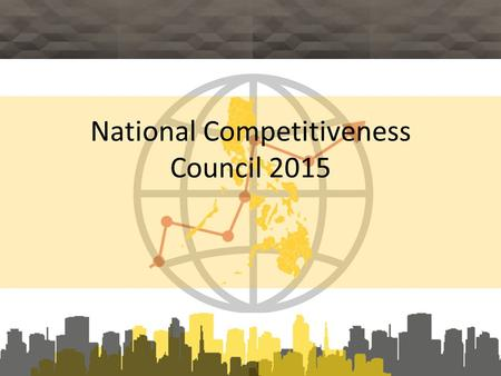 National Competitiveness Council 2015. WORLD ECONOMIC FORUM: GLOBAL COMPETITIVENESS REPORT 2014 -2015.