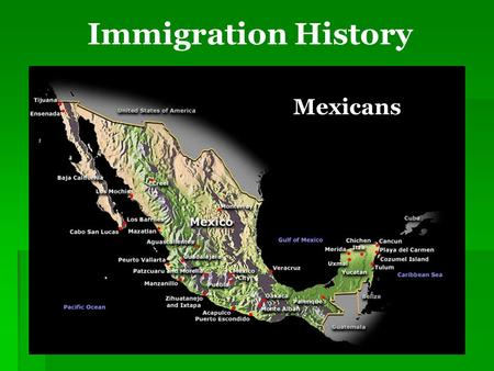 "Immigration History Mexicans. Immigration Controversies ""It is not better for America to do nothing about an immigration system that hurts families, hampers."