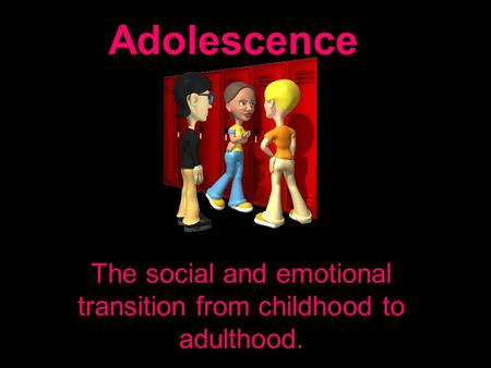 Young adulthood change social