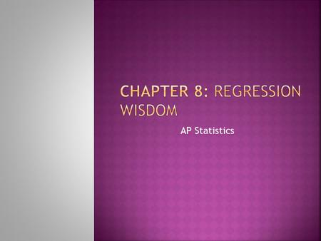 AP Statistics.  Linear regression only works for linear models. (That sounds obvious, but when you fit a regression, you can't take it for granted.)