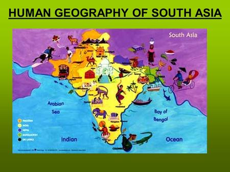 HUMAN GEOGRAPHY OF SOUTH ASIA Cultures of South Asia The three main ideas of Hinduism are reincarnation, dharma, and karma –Reincarnation— rebirth of.