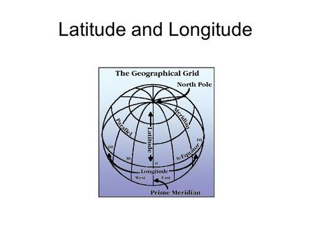 Latitude and Longitude. How do you find your way around?