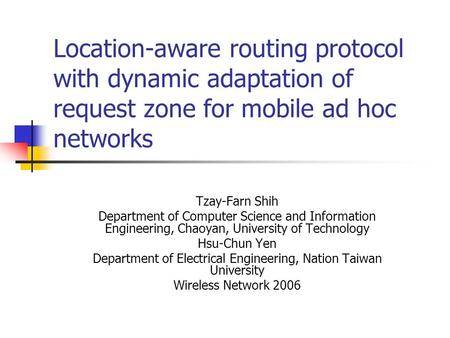 Ad hoc mobile networks ppt