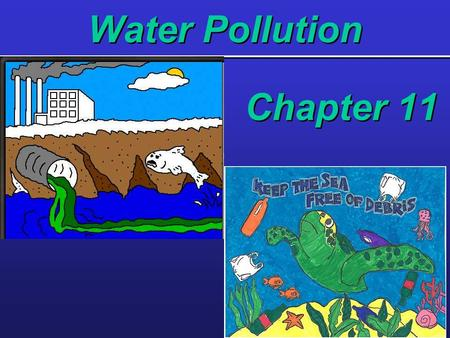 Water Pollution Chapter 11. Earth Science Review TIME!!!  You should know your water cycle.
