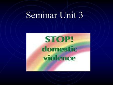 Seminar Unit 3. Jon Sperling 321-987-8165 Text me anytime if you have a question.