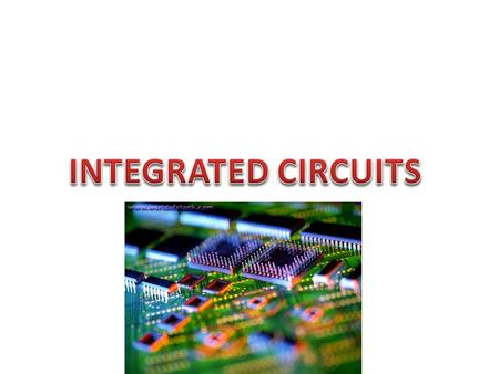 A microelectronic computer circuit incorporated into a chip or semiconductor In electronics, an as IC is a miniaturized electronic circuit. An electronic.