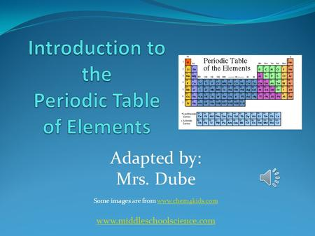 Adapted by: Mrs. Dube Some images are from www.chem4kids.comwww.chem4kids.com www.middleschoolscience.com.