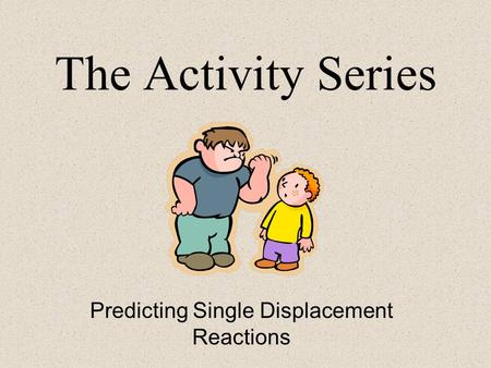 The Activity Series Predicting Single Displacement Reactions.