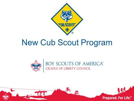 New Cub Scout Program. Overview New Cub Scout program launches on June 1. This presentation will cover: –Reasons for change –Updates –Materials –Transition.