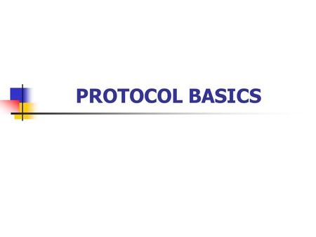 PROTOCOL BASICS. 2 Introduction In chapter 3: Circuits and techniques can be employed to transmit a frame of information between 2 DTEs Error detection.