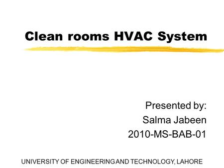 Clean rooms HVAC System