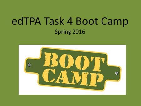 EdTPA Task 4 Boot Camp Spring 2016. What is required for students to be mathematically proficient? According to The National Research Council (2001),