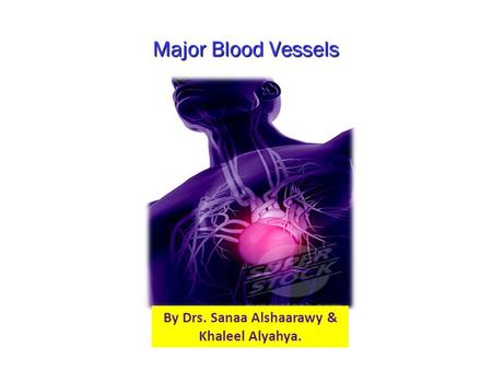 Major Blood Vessels By Drs. Sanaa Alshaarawy & Khaleel Alyahya.