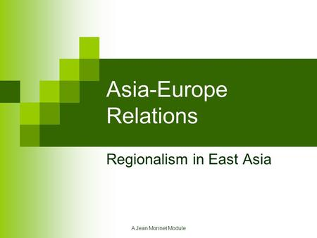 Asia-Europe Relations