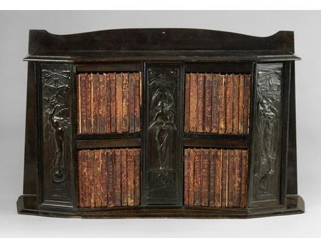 ------------- Image1 ------------- Field Data Digital Image File Name 48704 Source Title Art nouveau miniature bookcase with Shakespearian panels [realia].