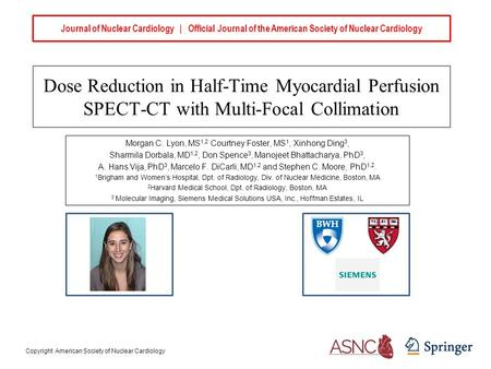Journal of Nuclear Cardiology | Official Journal of the American Society of Nuclear Cardiology Dose Reduction in Half-Time Myocardial Perfusion SPECT-CT.