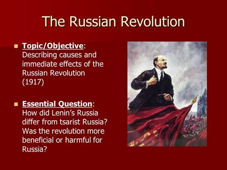 an analysis of the topic of the revolution in russia This interpretation argues for a russian sonderweg, in which the russian  of  course, the topic of violence had not been absent from studies of the revolution.