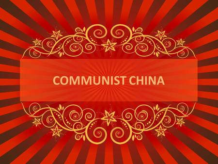 COMMUNIST CHINA. What do you remember??? When a stronger nation dominates a weaker nation it is called… What product did Britain sell to the Chinese in.