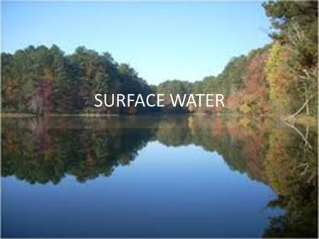 SURFACE WATER. I. River Systems 1.Rivers begin in the mountains- where runoff from melting snow forms small streams which join other streams. 2. Tributaries-