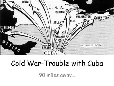 Cold War-Trouble with Cuba 90 miles away…. The Bay of Pigs Invasion The Bay of Pigs Invasion was an unsuccessful attempt by US-backed Cuban exiles to.