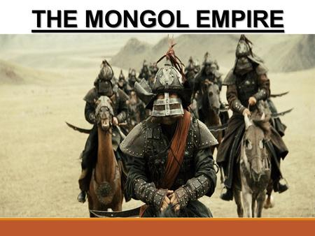 THE MONGOL EMPIRE. Introduction: Geography The Steppes – a treeless grassland stretching across Eurasia (from the Carpathian Mountains of Eastern Europe.