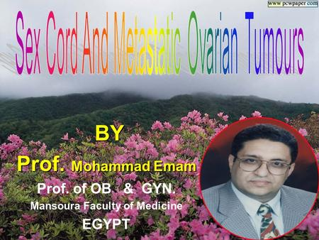 BY BY Prof. Mohammad Emam Prof. of OB & GYN. Mansoura Faculty of Medicine EGYPT.