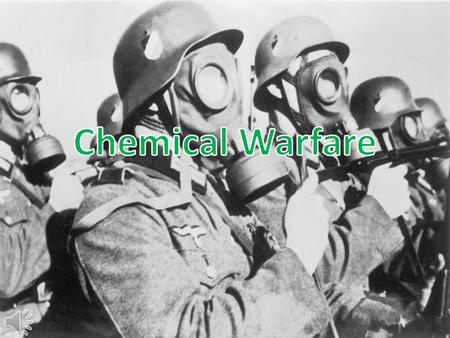 What is Chemical Warfare? Chemical Warfare (CW) involves using the toxic properties of chemical substances as weapons.