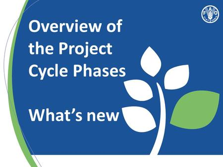 "Overview of the Project Cycle Phases What's new. ""Act"" Delivering through projects (Part 1)"