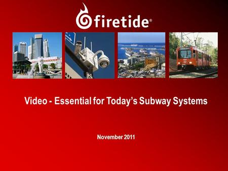 1 Video - Essential for Today's Subway Systems November 2011.